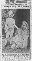 Patricia, Joyce and Donna Berigan, Fox Lake, WI; September, 1939.