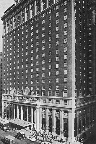 Hotel Pennsylvania in NYC. Site of many Berigan successes in 1937 with his new band.