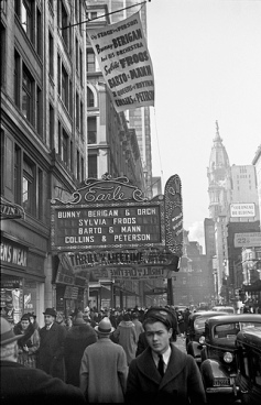 The marquee outside the Earle Theater in Philadelphia, early January, 1938.