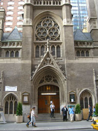 St. Malachy's Church, 239 West 49th Street, in the heart of Manhattan's theater district, is where Berigan worshipped when he was in New York City. It was also the site of his funeral in June of 1942.