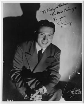 "Singer Danny Richards, the best male vocalist ever to sing with the Berigan band, shortly after joining Bunny in early 1939. Richards's recording of ""Skylark"" with Berigan is a swing era classic."